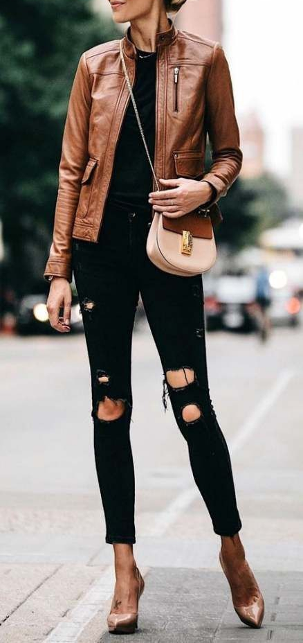 How to Wear Leather Jacket with Classic Style