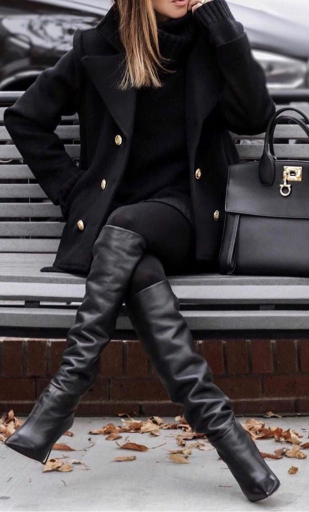 All Black Winter Outfits You'll Want To Copy This Year