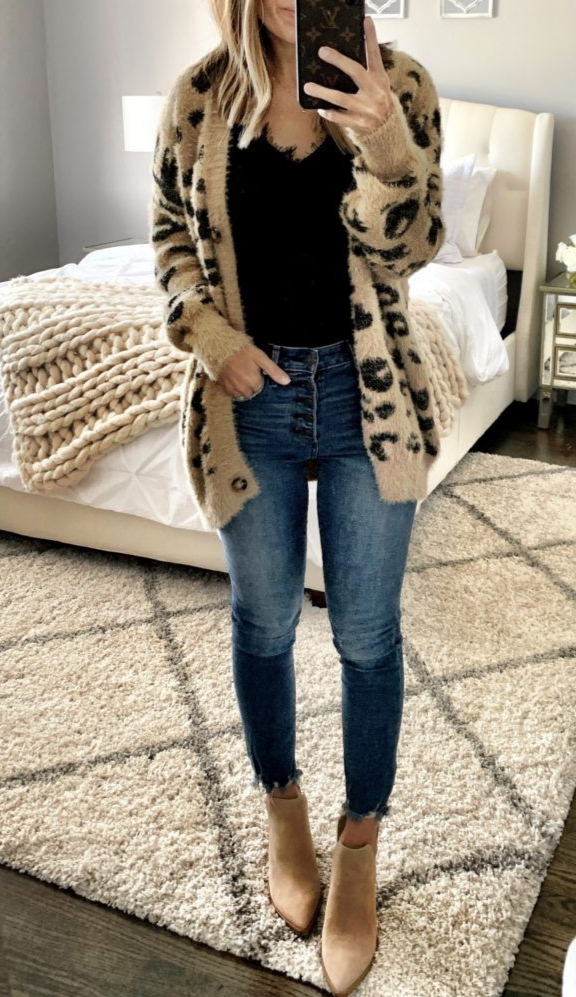 21 Simple Casual Fall Outfit With Oversize Cardigan